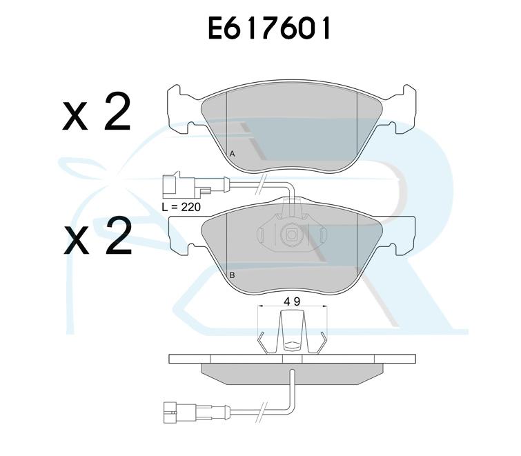 Kit Dischi freno e pastiglie Evolution per Alfa 147  Anteriori cod ETK001
